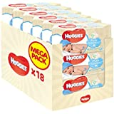 Huggies Pure Baby Wipes - Pack of 18 (18 x 56 Packs, Total 1008 Wipes)