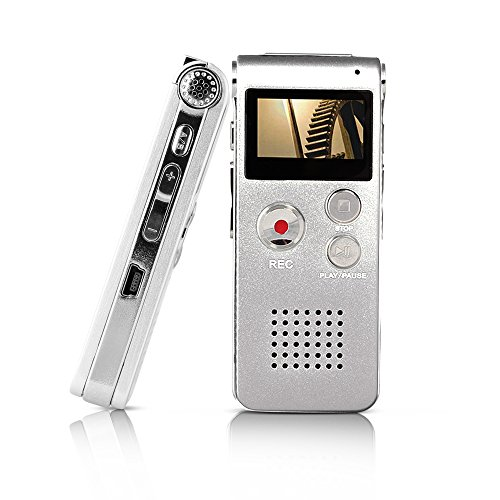 Btopllc Digital Voice Recorder MP3 Player with Mini USB Port, Digital Audio Voice Recorder MP3 Player Support A-B Repeat, Recording Telephone Conversations / Meetings / Interviews (Digital Telephone Recorder compare prices)