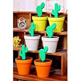 LOHOME(TM) Creative Potted Plant Toothpick Box Cactus Shaped Toothpick Holder(One Branch) (Beige)