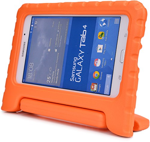 Cooper Cases(Tm) Dynamo Samsung Galaxy Galaxy Tab 4 8.0(T330) Kids Case In Orange (Lightweight, Shock-Absorbing, Child-Safe Eva Foam, Built-In Handle And Viewing Stand) front-173461