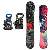 DEFIANCE メンズ スノーボード2点セット 152サイズ レッド+MLブルー