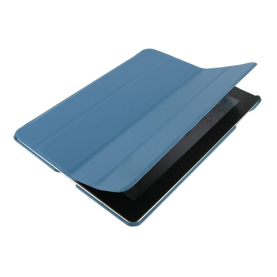 rooCASE Ultra Slim Leather Case for iPad 2 - Blue