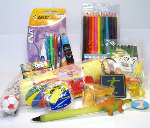 Christmas Stocking Fillers For Boys (7+)- Lucky Dip Pack Of Stationary And Novelty Items.