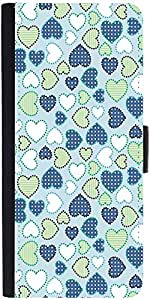 Snoogg Crystals Colourful Graphic Snap On Hard Back Leather + Pc Flip Cover S...