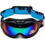 Lalawow Anti Fog Children Kids Junior Snow Skiing Ski Glasses Sports Goggles Double Clarity Lens Wide Vision UV400 UVA UVB UVC Protection