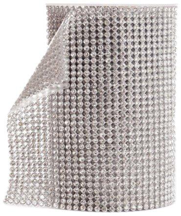 Koyal Silver Rhinestone Ribbon With Stones front-1032515