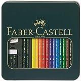Faber-Castel 16 Piece Polychromous Mixed Media Colored Pencil Set in Metal Tin (Color: Multicolor)
