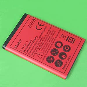 1750mAh Standard Extra Spare Li-ion Replacement Battery for AT&T Samsung Galaxy Appeal i827 -Red