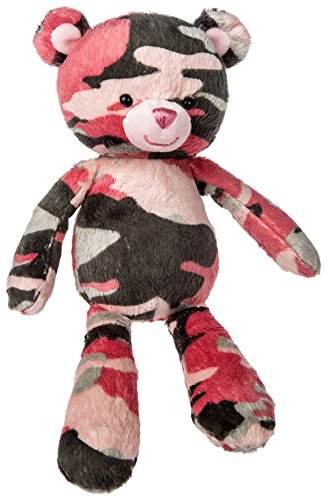 Mary Meyer Pink Camo Bear Plush Toy, 11-Inch