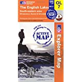 The English Lakes - South Eastern Area (OS Explorer Map Active): Windermere, Kendal & Silverdaleby Ordnance Survey