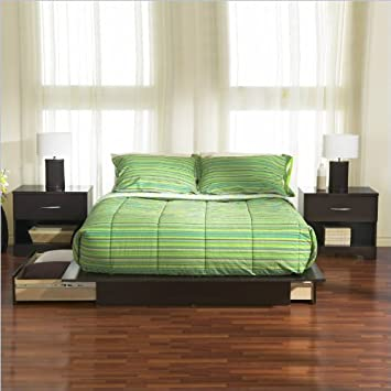 South Shore Furniture Back Bay 6 Piece Bedroom Set in Dark Chocolate