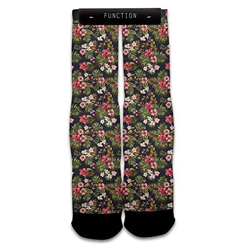 Function - Floral Pattern Sublimated Crew Socks