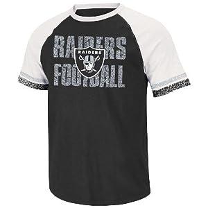Oakland Raiders Majestic NFL Zone Blitz IV Raglan Premium T-shirt by Unknown