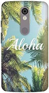 The Racoon Lean aloha hard plastic printed back case / cover for Motorola Moto X Force