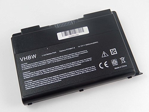 vhbw Li-Ion Batterie 5900mAh (15.12V) pour ordinateur notebook Sager NP9380, NP9380-S, NP9390, NP9390-S comme P370BAT-8.