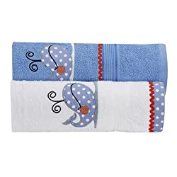 TOWEL SET -SET OF 2-DOLPHIN