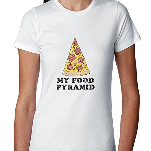 my-food-pyramid-pizza-funny-exclusive-quality-t-shirt-for-damen-xs-shirt