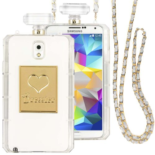 Dressier N3 Perfume Bottle Case with Chain for Samsung Galaxy Note 3 - Clear