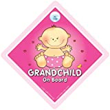Grandchild on Board Big Pink Baby on Board Sign baby on board Maternity Car Sign Grandparent Car Sign Baby on Board Car Signs Baby Car Signs