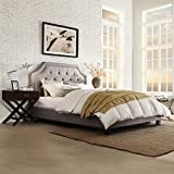 Inspire Q Inspire Q Benson Arched Upholstered Bed, Gray, Upholstered, Queen