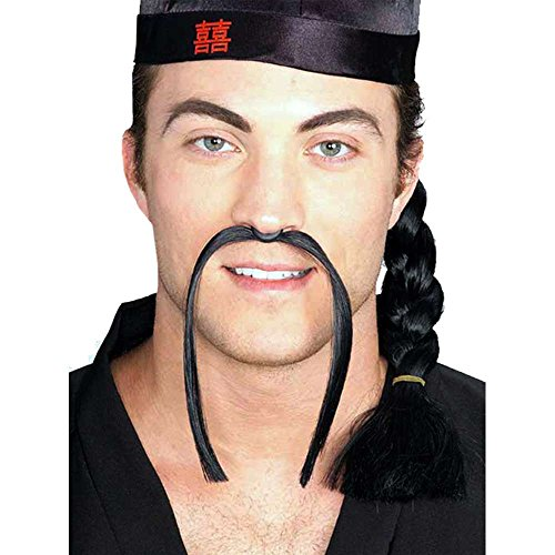Rubie's Costume Co Mandarin Moustache-Black Costume