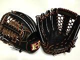 ハイゴールド 限定特注品硬式外野手用グラブ 黒 左投げ用 学生野球 高校野球対応 野球用品 硬式野球  グローブ