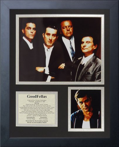 Legends Never Die Goodfellas Framed Photo Collage, 11 by 14-Inch (Mafia Pictures compare prices)