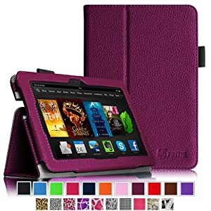 "Fintie Amazon All-New Kindle Fire HDX 7 Folio Case Cover - Auto Sleep/Wake (will only fit Kindle Fire HDX 7"" 2013), Purple"