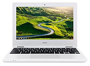 Acer CB3-131 Chromebook 11.6-Inch Laptop (White) - (Intel Celeron N2830, 2 GB RAM, 16 GB Storage, UMA Graphics Card, Google Chrome) from Acer