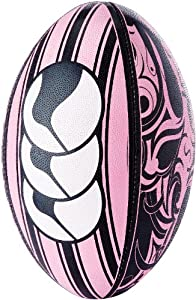 Canterbury Tribal Rugby Ball Black/Pink 5