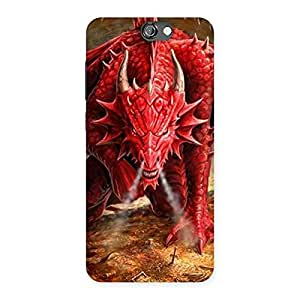 Premium Red Fantastic Dragon Back Case Cover for HTC One A9