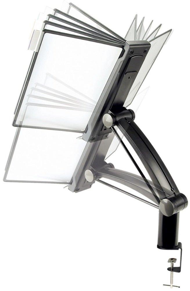"Aidata FDS010L Flex Arm Reference Organizer (Black) (27""H x 21""W x 16""D)"