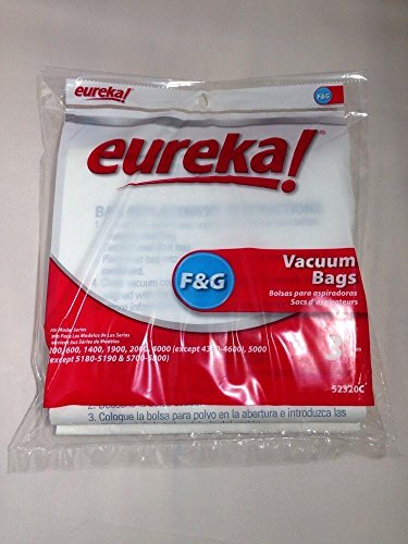 Household Supplies & Cleaning Eureka Style F&G Upright Vacuum Cleaner Bags 3 Pk Genuine OEM (Vacume Belts Eureka compare prices)