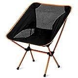 PONCOTAN ウルトラライト フィットチェア 軽量 チェアワン アウトドアチェアー 椅子 折りたたみ コンパクト キャンプ 持ち運びに便利な専用ケースセット(オレンジ)