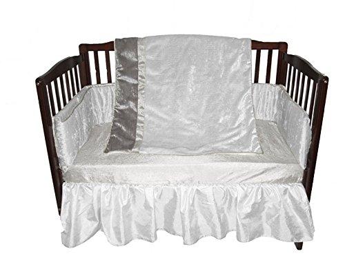 Grey BabyDoll Solid Crib//Toddler Bed Sheet Set