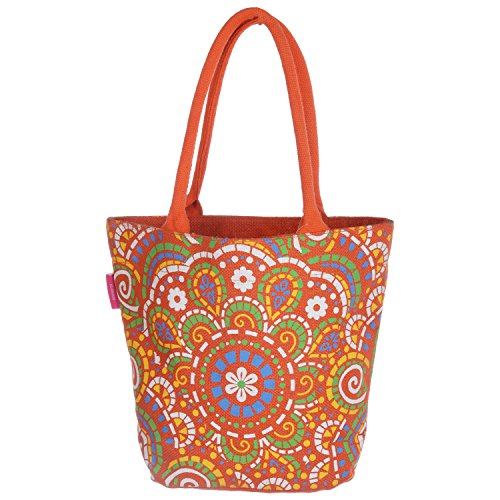 Rangoli RKD Rangoli Big Jute Handbag (Multi-Color) (Multicolor)