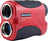 Golf Rangefinder - Breaking 80 Laser Range Finder with Advanced Pin Sensor / Pin Seeking Technology - Free Battery