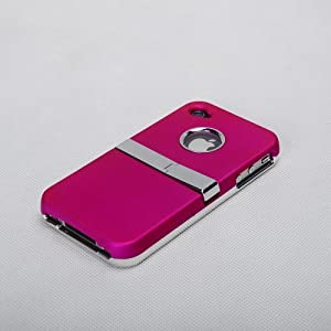 MetaiCase Deluxe AT&T Verizon Pink Iphone 4 4S 4G Case Cover with Kickstand