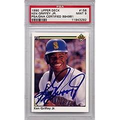 Ken Griffey Jr. Seattle Mariners PSA DNA Certified Authentic Autograph - 1990 Upper...