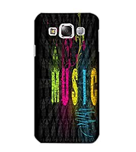 SAMSUNG GALAXY E5 MUSIC Back Cover by PRINTSWAG