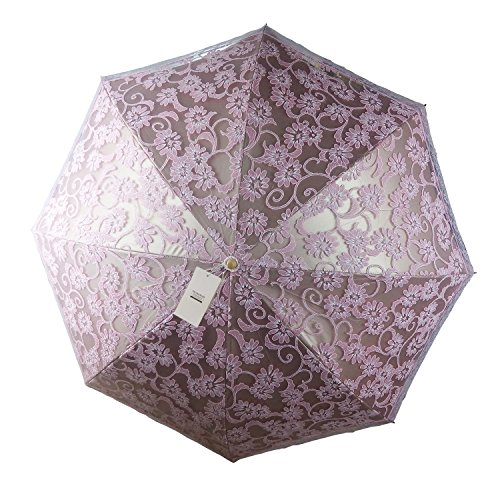 seamand ladies umbrella lace parasol folding wedding umbrella sun shade anti uv pink home. Black Bedroom Furniture Sets. Home Design Ideas