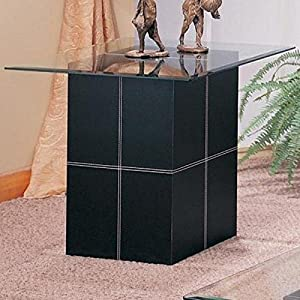 Bonded Leather End Table