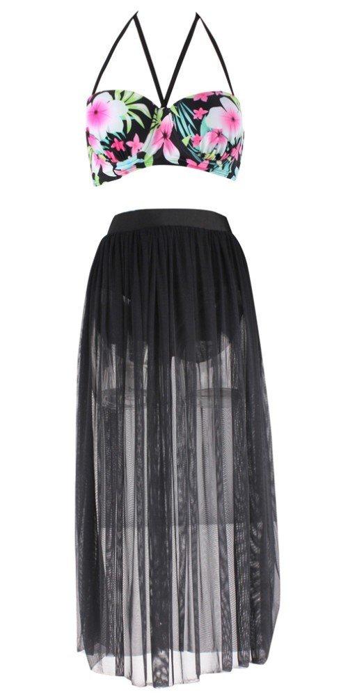 Dasbayla Women Fashion Floral Bathing Suit Push up Skirt Swimsuit Plus Size Bikini 1