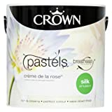 Crown Breatheasy Emulsion Paint - Silk - Crème de la rose - 2.5L