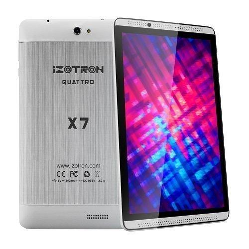 iZOTRON Quattro X7 3G Calling Quad Core 1GB 8GB IPS Screen Tablet PC - Silver