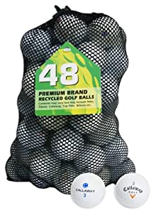 Second Chance Callaway 48 Balles de golf de récupération Qualité supérieure Grade B