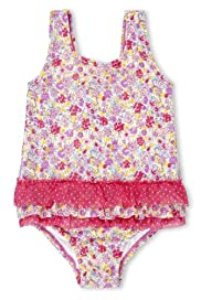 Square Neck Ditsy Floral Swimsuit [T78-8049X-S]