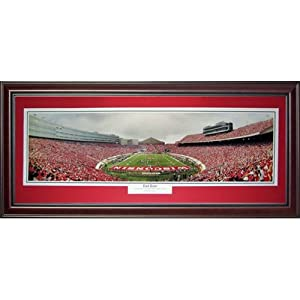 University of Wisconsin Badgers (End Zone) Deluxe Framed Panoramic Photo by PalmBeachAutographs.com