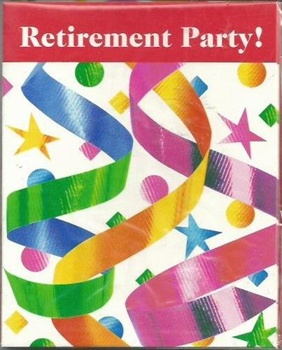 Retirement Party Invitations Party Supplies With Envelopes Luau Party Supplies - 1