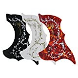 IKN 3 Pcs Hummingbird Acoustic Guitar Pickguard with Flower Pattern Self-adhesive,Mixed Color
